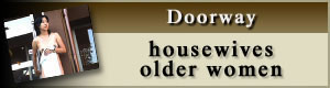 housewives/older women on doorway